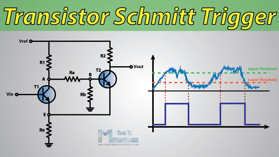 circuit diagram simple transistor schmitt trigger howtomechatronics simple ac to dc circuit diagram