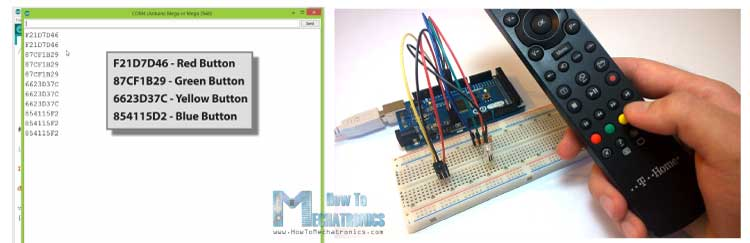 IRrecvDemo-Serial-Monitor-and-TV-Remote-RGB-LED-Control-Example
