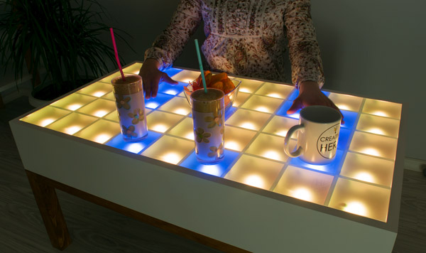 Arduino Based DIY Interactive LED Coffee Table