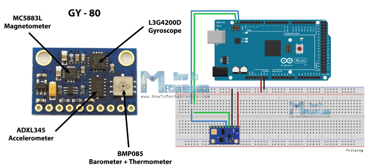 GY-80-Board-and-Arduino