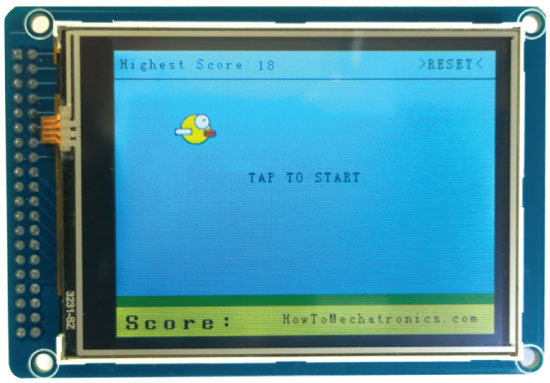Birduino---Arduino-Game-Project--Start-Screen