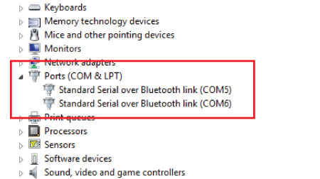 Arduino and HC-05 Bluetooth Module - Laptop Settings 2