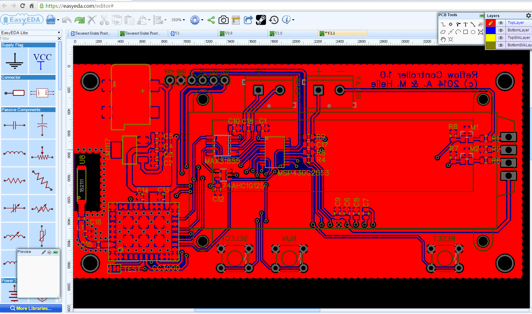 Circuit Simulator And Pcb Design Software Easyeda Howtomechatronics Wiring Schematic Creator Interface
