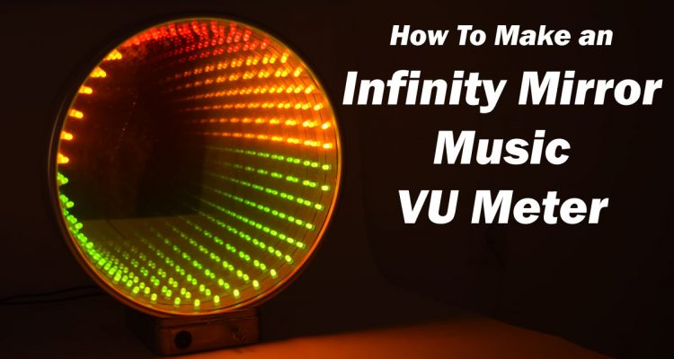 Infinity Mirror Music VU Meter Electronics Project using LM3915 IC