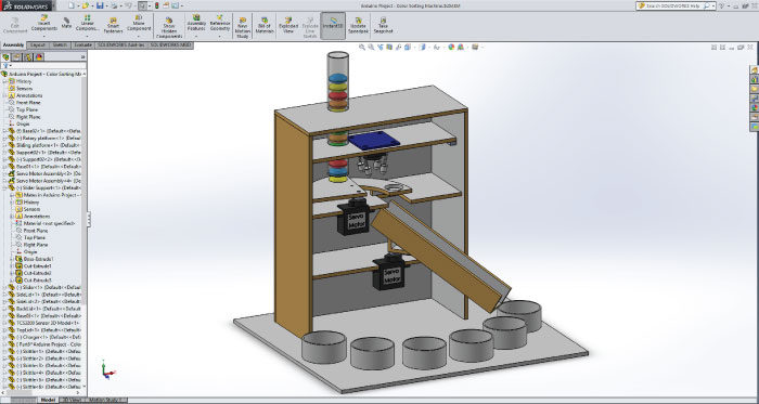 Color Sorting Machine Arduino Project Solidworks Model