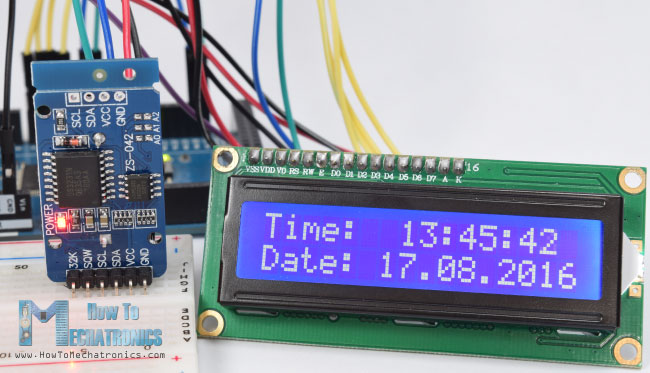 Arduino DS3231 Real Time Clock and LCD Example