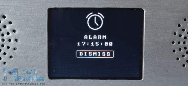Arduino Touch Screen Alarm Clock Activation