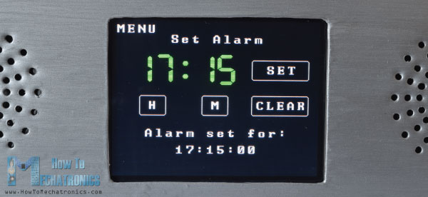 Arduino Touch Screen Alarm Clock Screen