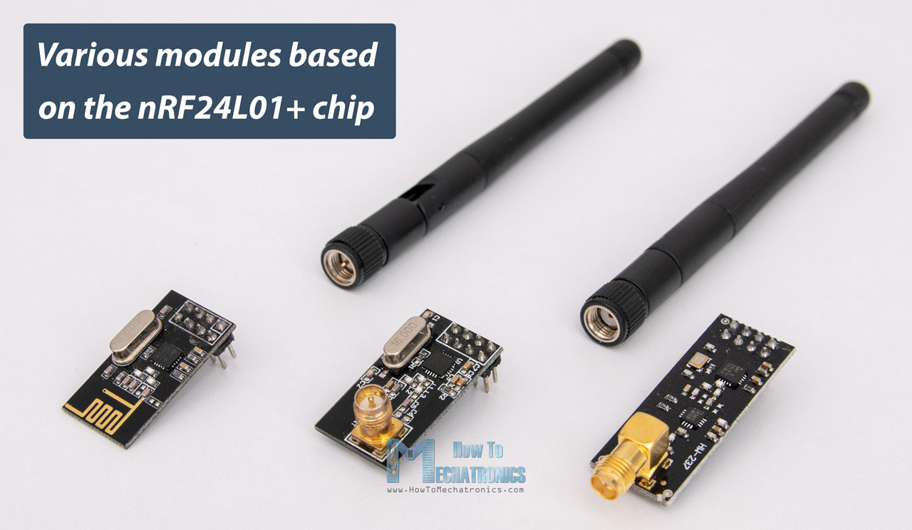 Various modules based on the NRF24L01 chip