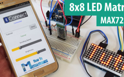 8×8 LED Matrix MAX7219 Tutorial with Scrolling Text & Android Control via Bluetooth