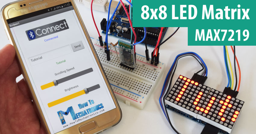 Swell 8X8 Led Matrix Max7219 Tutorial With Scrolling Text Android Wiring Database Redaterrageneticorg