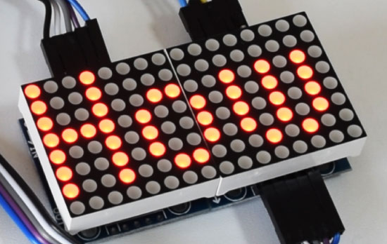 8x8 LED Matrix Scrolling Text Arduino Code