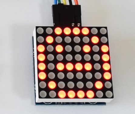 8x8 LED Matrix Smile Character