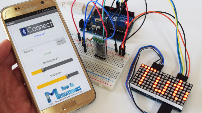 Android App for Controlling 8x8 LED Matrix via Bluetooth