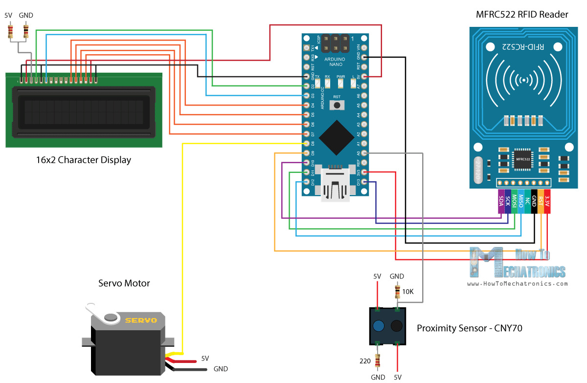 How Rfid Works And To Make An Arduino Based Door Lock Proximity Sensor Wiring Diagram On Magnetic Circuit Schematics Of This Project Access Control