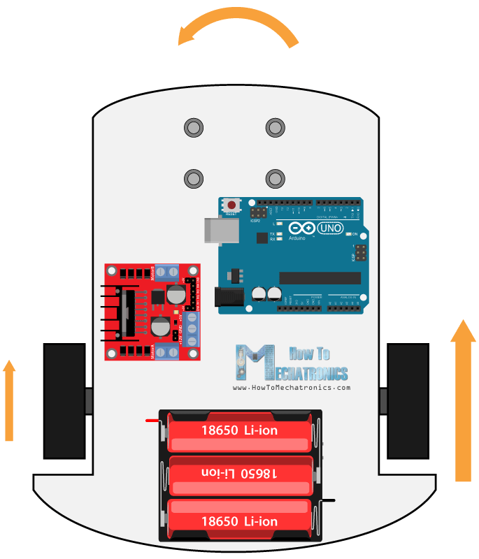 Arduino Robot Car Left and Right Control