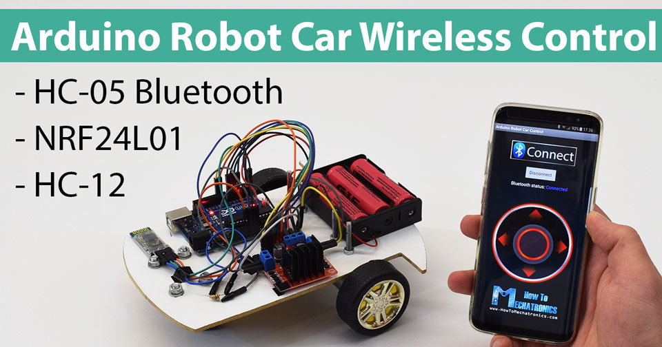 Arduino robot car wireless control using hc bluetooth