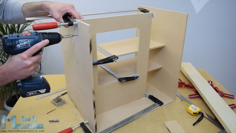 Assembling the MDF boards