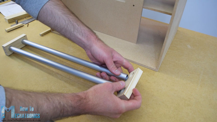 making the rails for the vending machine