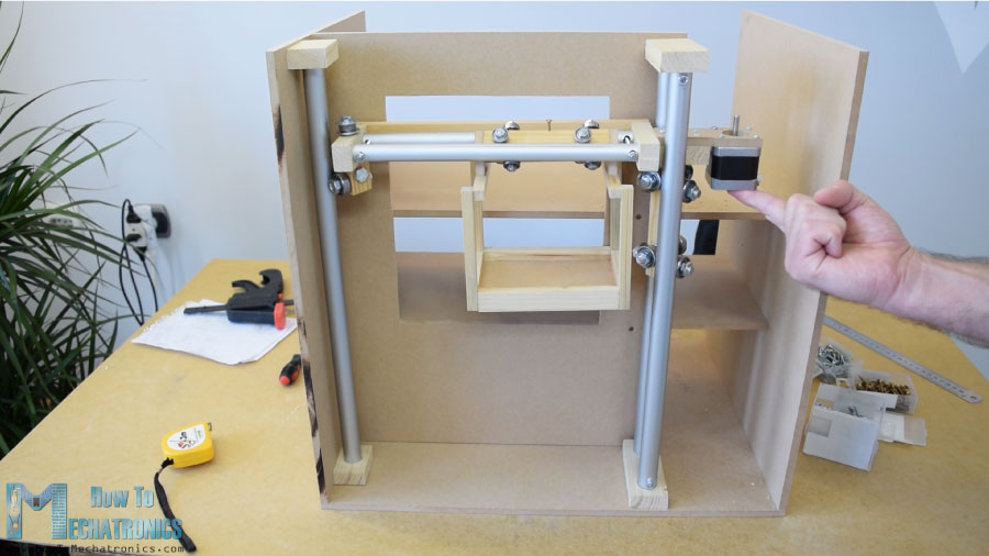 mechatronics diy vending machine project sliding system with bearings