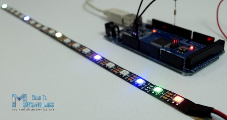 How to control ws2812b individually addressable leds using arduino now as an example i will use 20 leds long strip connected to the arduino through a 330 ohms resistor and powered with a separate 5v power supply mozeypictures Images