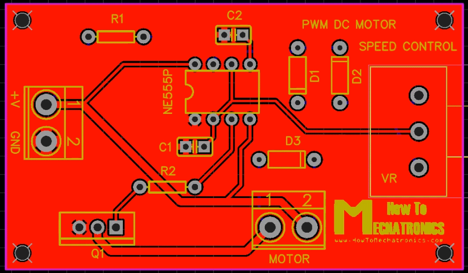 How To Make a PWM DC Motor Speed Controller using the 555