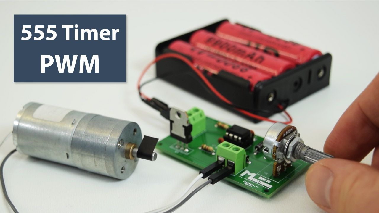 How To Make A Pwm Dc Motor Speed Controller Using The 555 Timer Ic Pulse Generator Circuit With Variable Width Howtomechatronics