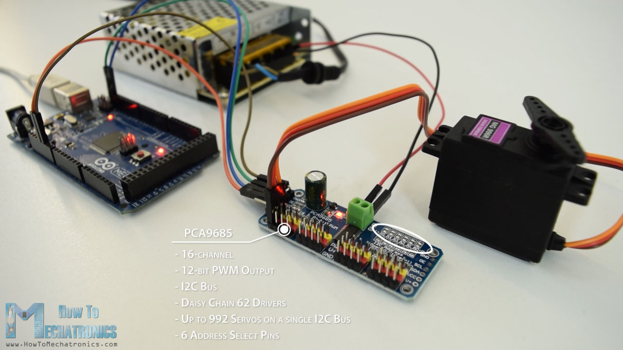 How Servo Motors Work To Control Servos Using Arduino Simple H Bridge Motor Driver Circuit Electronic Collection And Pca9685 Pwm