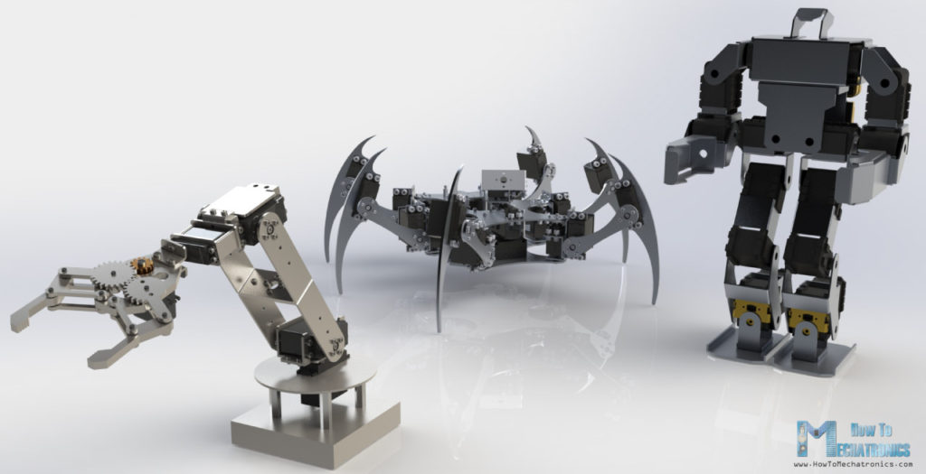Servo Motor Applications Robotic Arm Hexapod Humanoid Robot