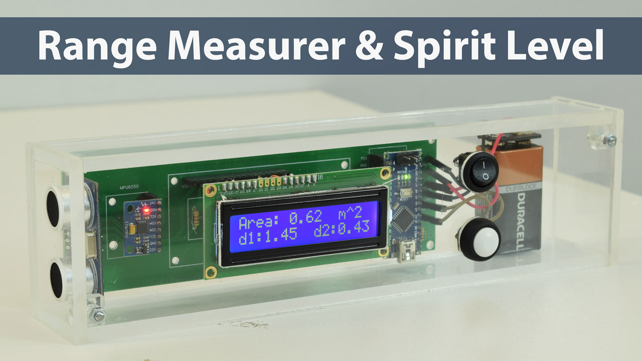 Arduino Range Measurer And Digital Spirit Level Project Ultrasonic Transmitter Receiver Circuits Free Electronic Howtomechatronics