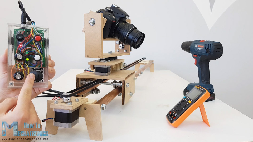 DIY Motorized Camera Slider with Pan and Tilt Mechanism Arduino Based