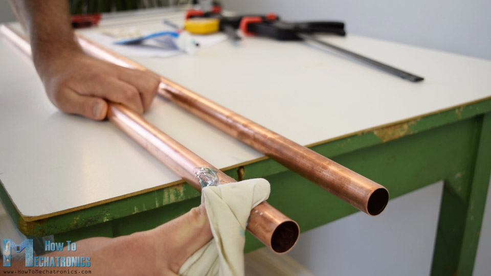 cleaning copper pipes