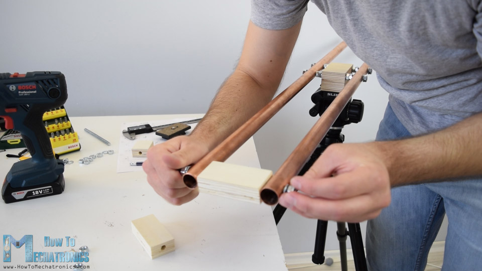fixing the ends of the slider rails