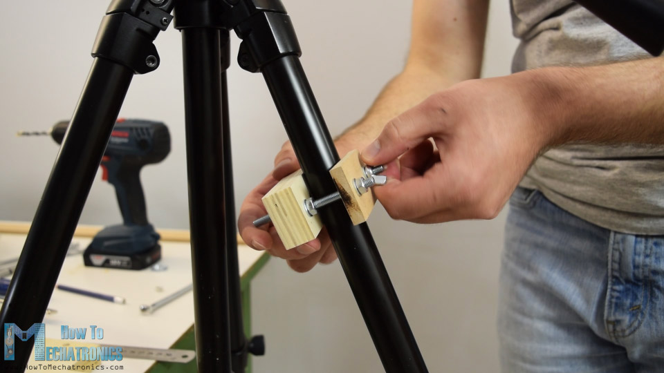 tripod leg clamp diy
