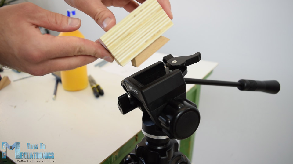 wooden tripod mounting plate