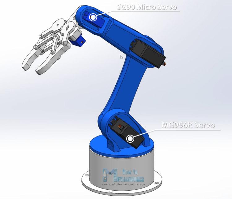 Arduino Robot Arm 3D Model