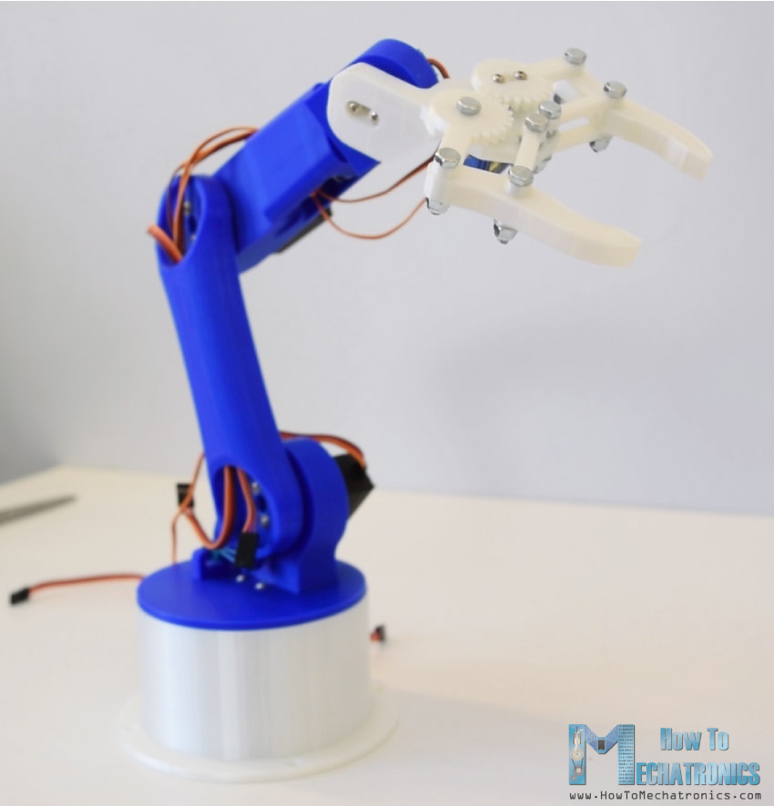 DIY Arduino    Robot    Arm with Smartphone Control  HowToMechatronics