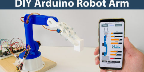 DIY Arduino Robot Arm with Smartphone Control
