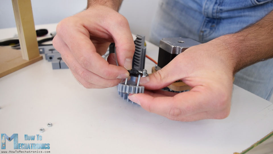 3d printed gear for servo motor rack and pinion mechanism