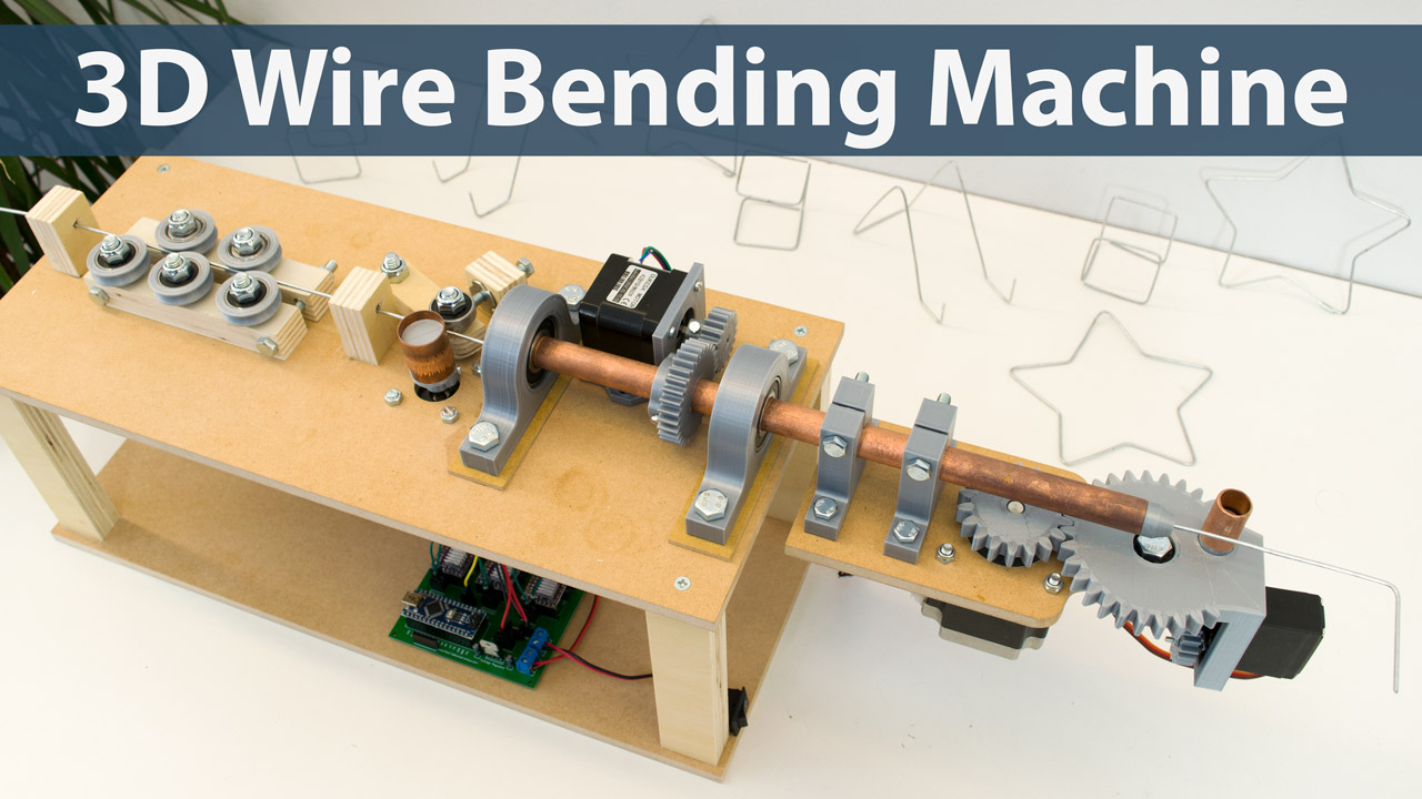 Arduino 3D Wire Bending Machine