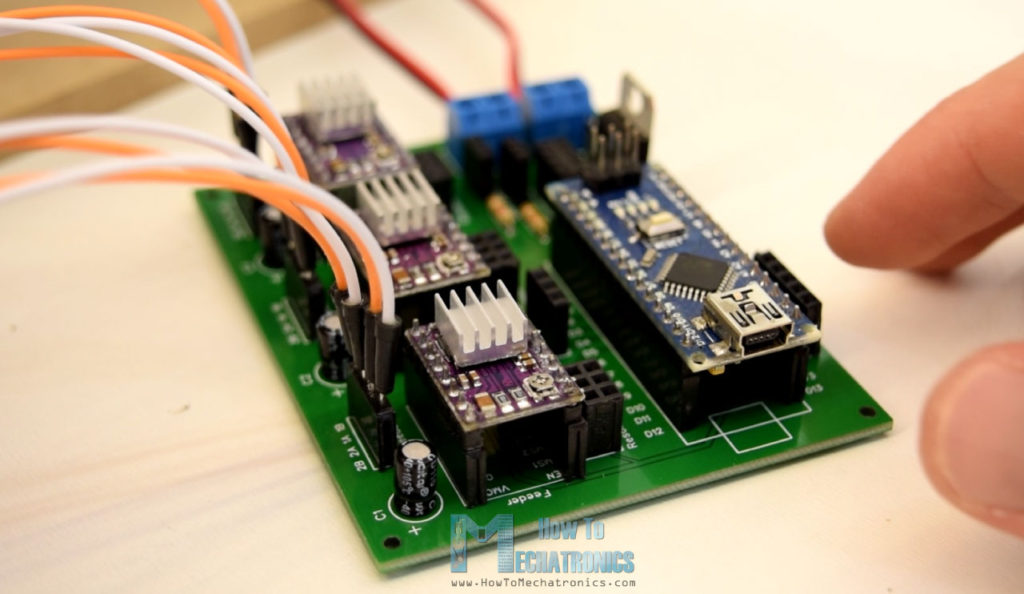 Arduino and DRV8822 Circuit PCB for 3D Wire Bending Machine