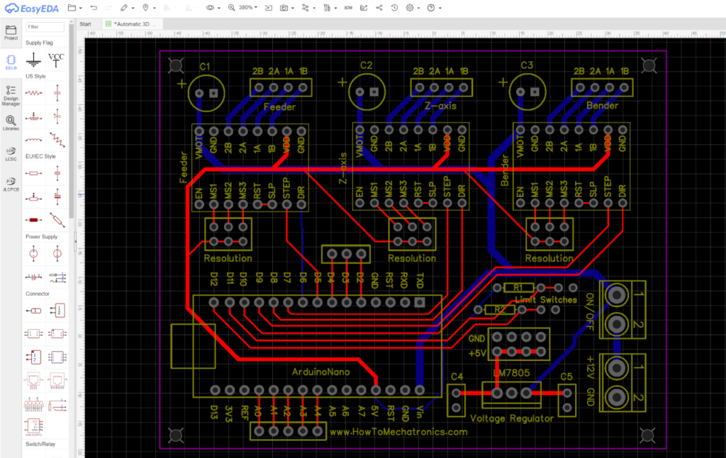 Arduino 3D Wire Bending Machine - HowToMechatronics on motor limit switch diagram, limit switch troubleshooting, limit switch switch, basic switch circuit diagram, pressure switch circuit diagram, york gas furnace wiring diagram, micro switch circuit diagram, simple reverse switch diagram, reverse polarity switch wiring diagram, reed switch circuit diagram, limit switch installation, 2-way switch wiring diagram, limit switch ground, limit switch wiring diagram, honeywell switching relay wiring diagram, limit switch code, rotary switch circuit diagram, dc motor switch wiring diagram, limit switch control diagram, somfy motor wiring diagram,