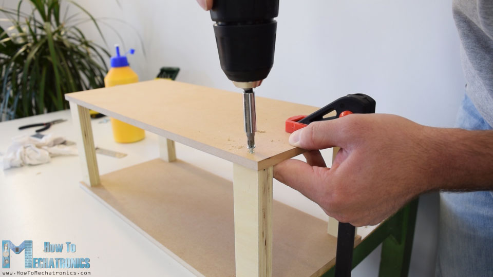 Making the base out of MDF and plywood