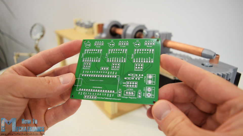 pcb for arduino 3d wire bending machine project