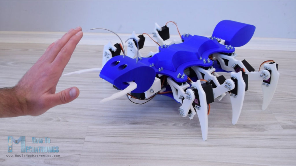 Arduino based Ant Robot - Attack mode - object detection