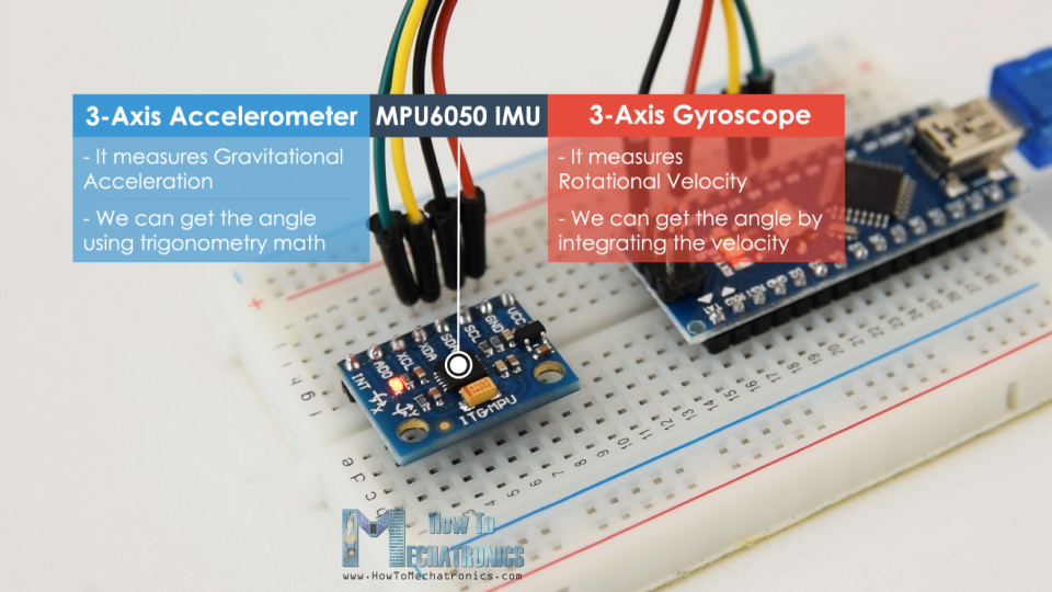 MPU6050 IMU 3-Axis Accelerometer and 3-Axis Gyroscope
