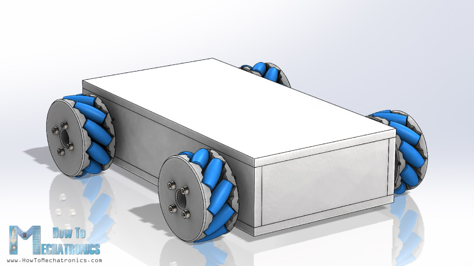 3D Model Mecanum Wheels Robot Vehicle