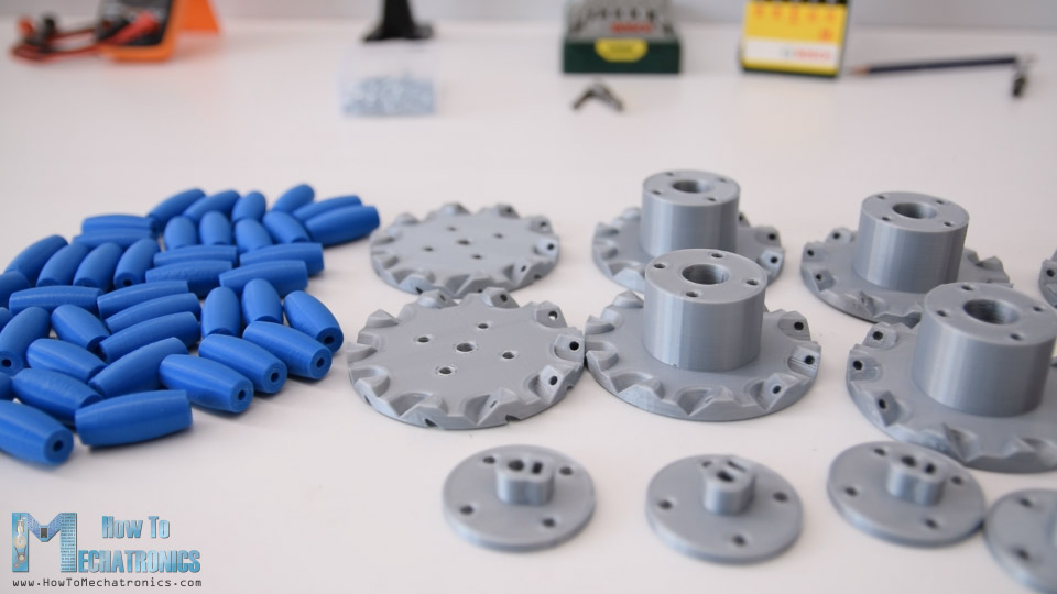 3D Printed Mecanum Wheels Parts