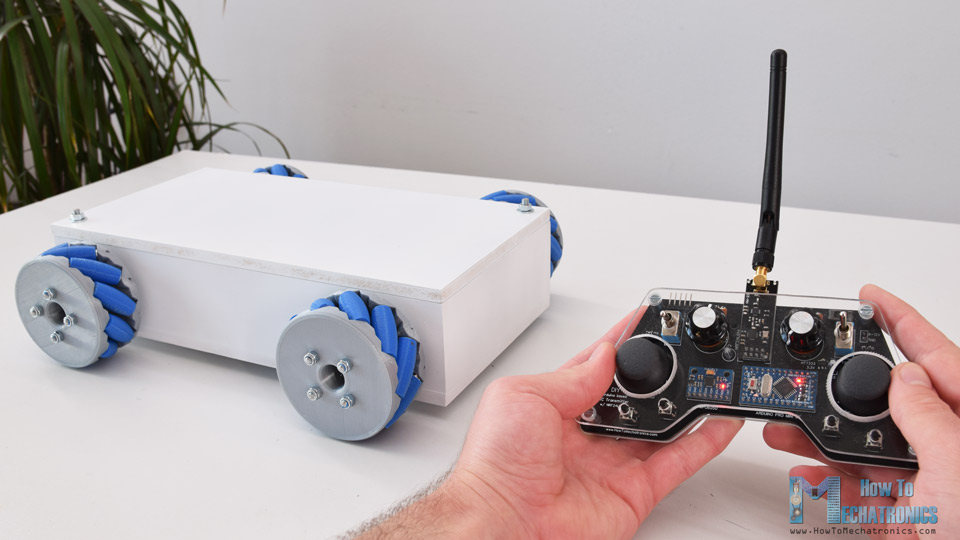 DIY Mecanum Wheels Robot Wireless Control with RC Transmitter