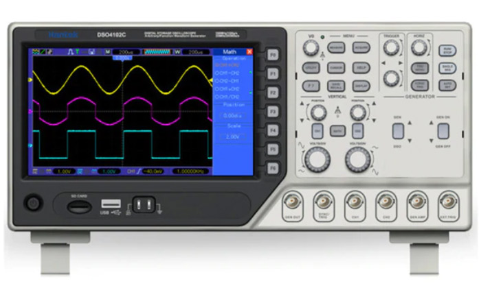 Hantek DSO4102C - Best Oscilloscope for Electronics Hobbyists